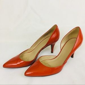 J. Crew Orange Patent Pump Shoes